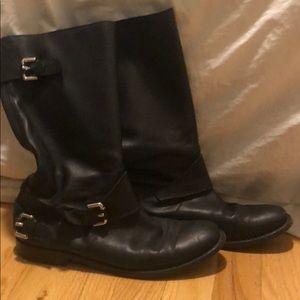 Burberry Calfskin Riding Boots